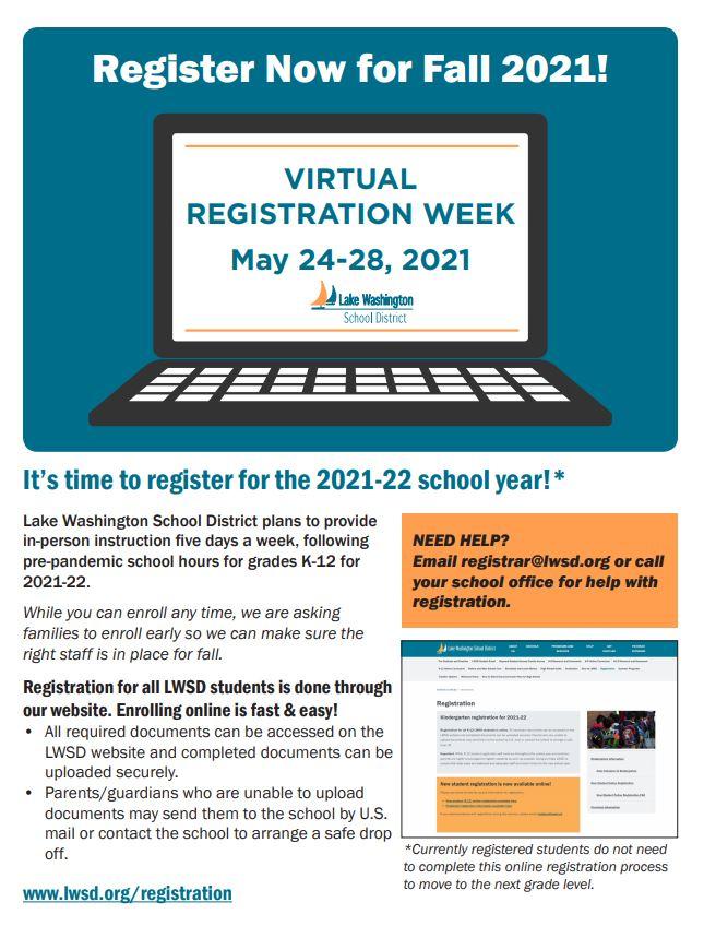 LWSD School Registration Flyer