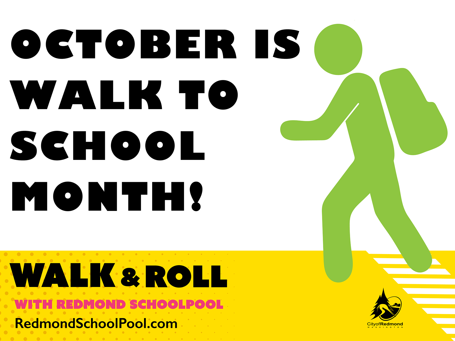 October is Walk to School Month