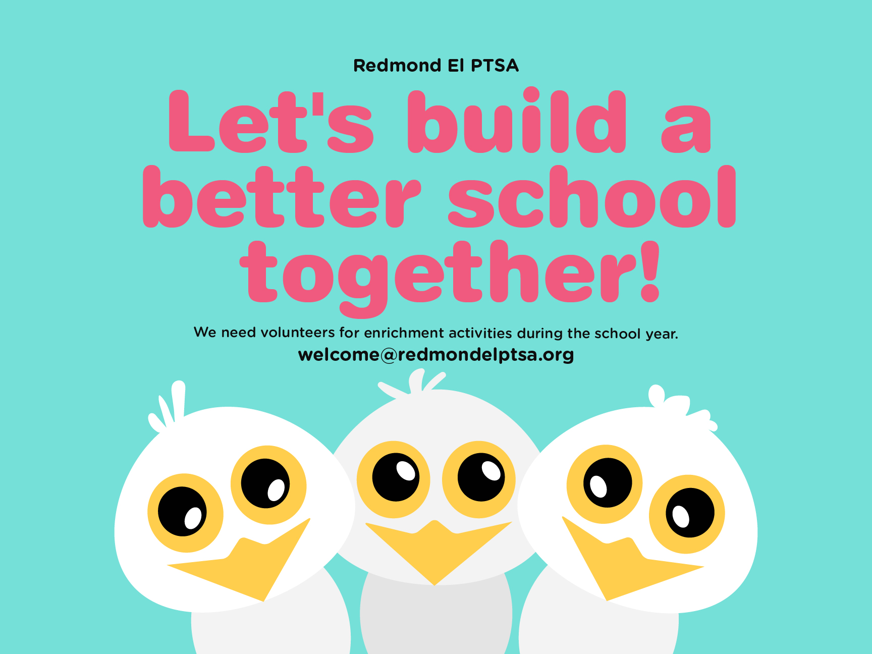 PTSA call for volunteers