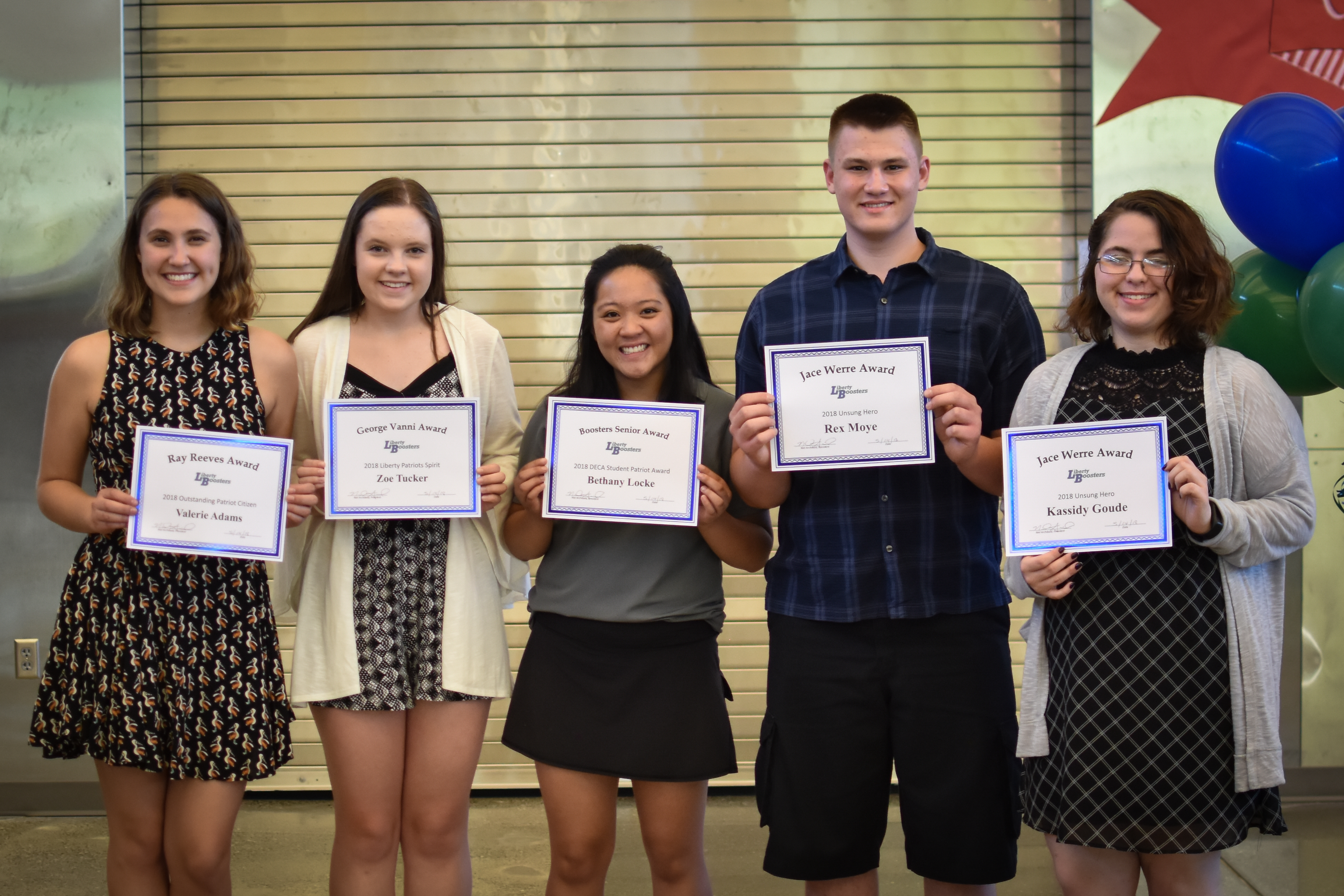 Booster Club Senior Award Recipients