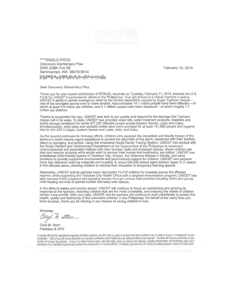 Letter Of Appreciation For Donation from discoveryptsa.org