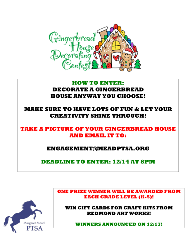 Gingerbread house decorate contest