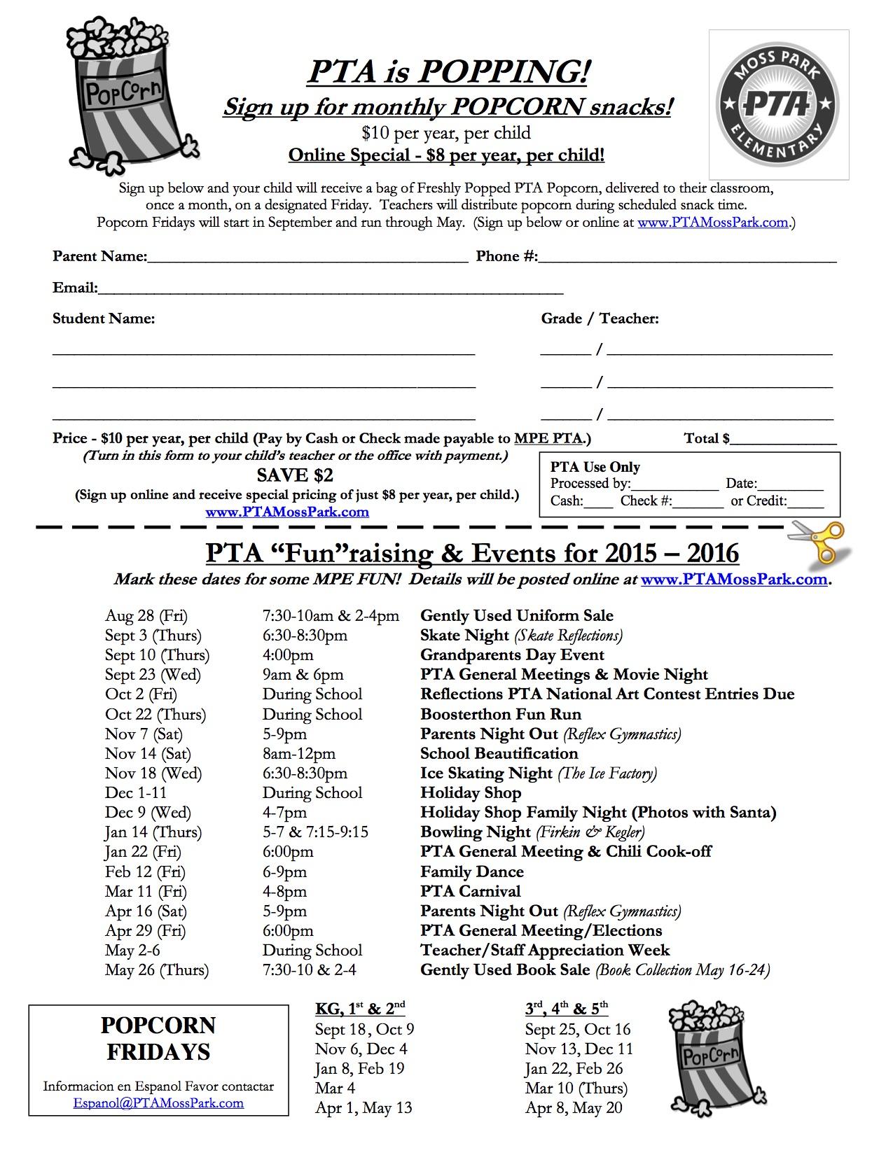 2015-2016 Popcorn Sign Up