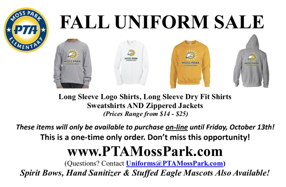 Fall Uniform Sale