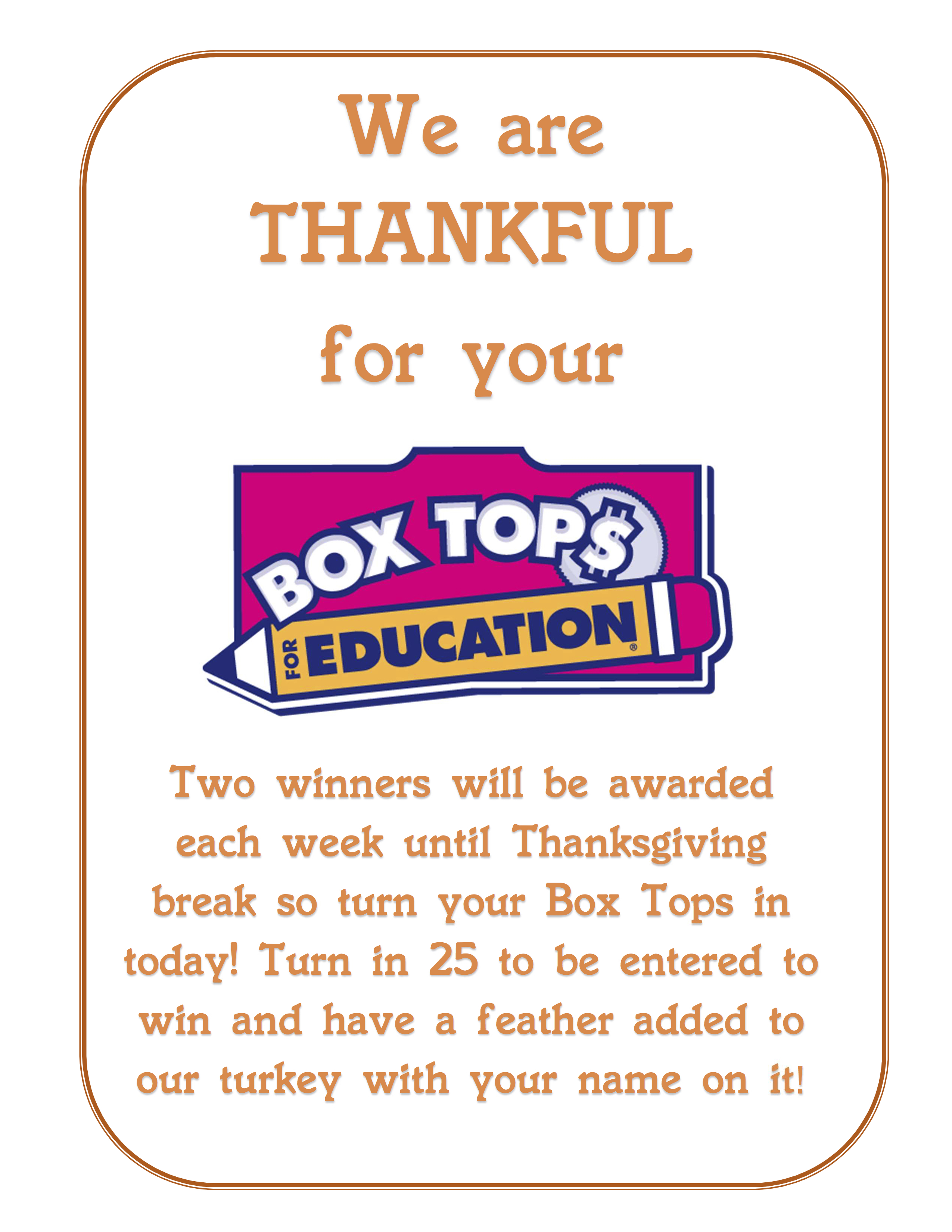 Box Tops Thankful