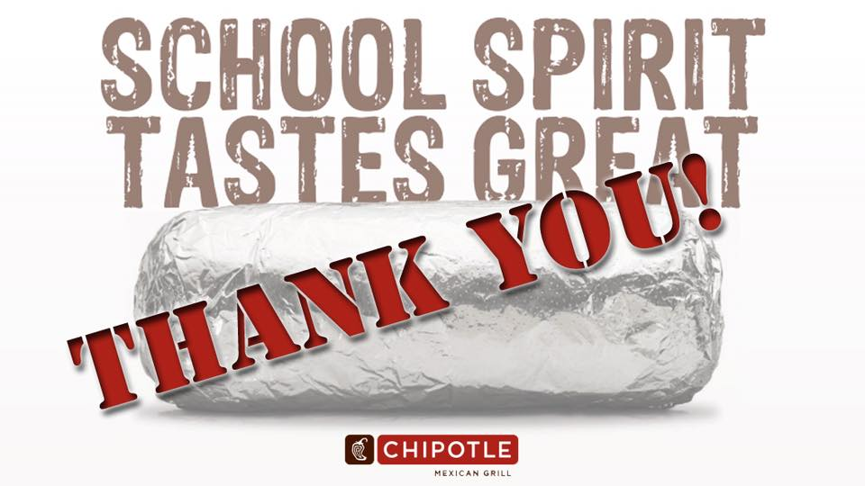 Thank you Chipotle