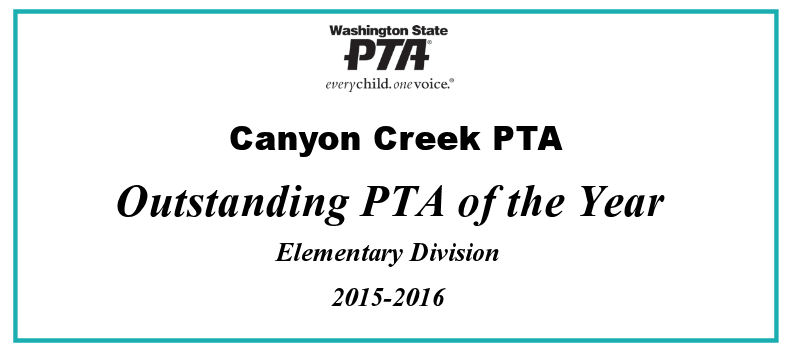 Canyon Creek PTA: Outstanding PTA of the Year