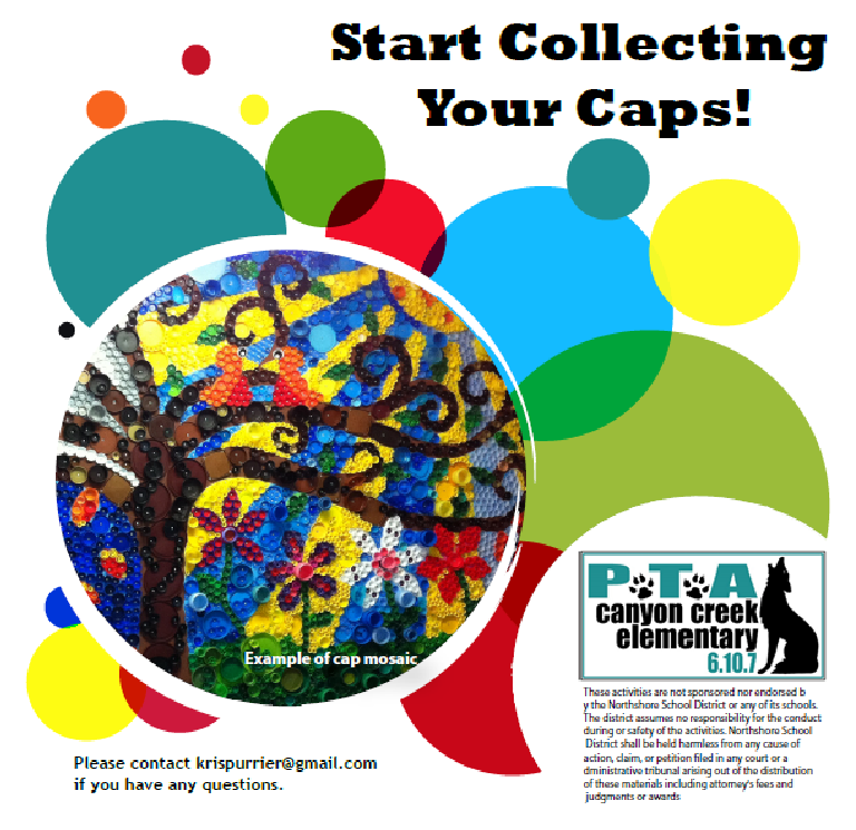 Collect caps for 40th anniversary mosaic Collect and save