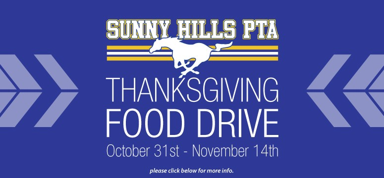 http://sunnyhillspta.org/Page/Events%20and%20Programs/Thanksgiving%20Food%20Drive